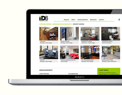 iD8 Design Studio (Boston) Website