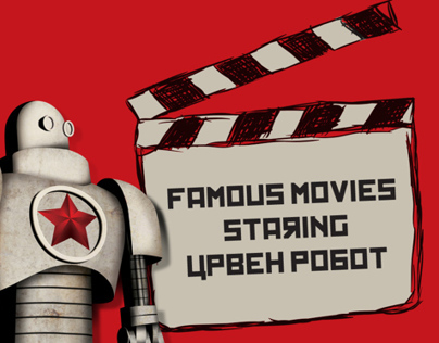 Famous movies posters staring  Red Robot