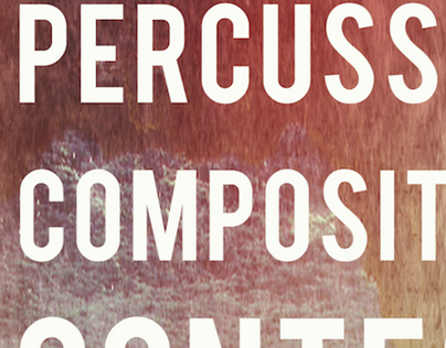 Percussion Composition Contest Trifold Brochure