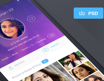 Dating App Profile Free Psd