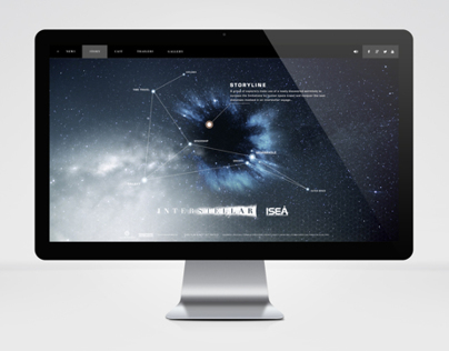 Interstellar Movie Webdesign