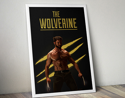 """The Wolverine"" Illustration Poster"