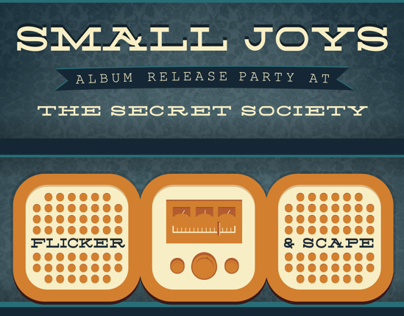 Small Joys Album Release Flier