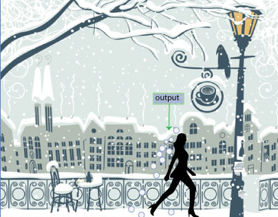 Interactive Space: Snowfall