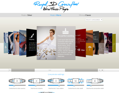 Royal 3D Coverflow Wordpress Plugin