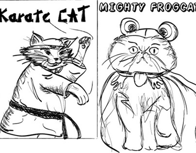Cat Postcards Seriers