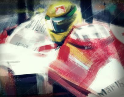 Ayrton Senna - digital painting