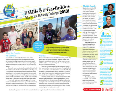 2013 Fit Family Challenge Editorial Designs