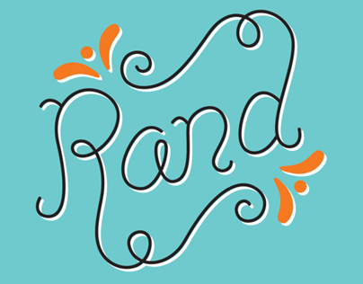 """Rand"" custom name lettering"