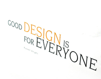 Good Design is for Everyone Book Spread design