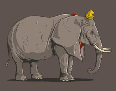 Grown-up TV elephants