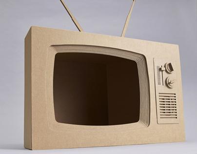 Retro, Cardboard TV