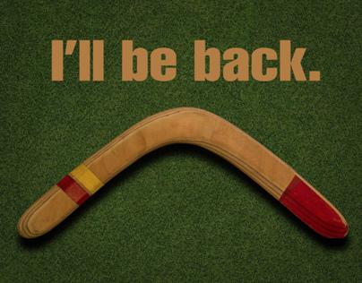 Boomerang card - Ill be back