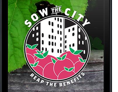 Sow the City // Community garden mobile app.