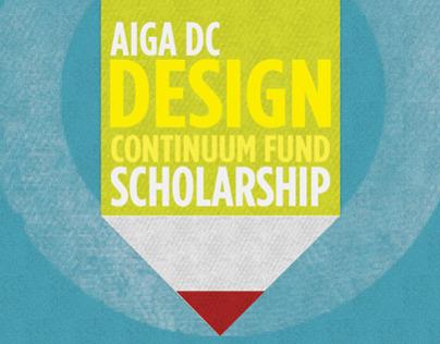 AIGA DC Design Continuum Scholarship Poster