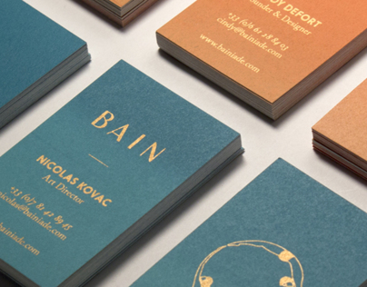 BAIN Silk Printed Business Cards