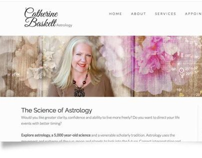 Catherine Baskett Astrology website redesign