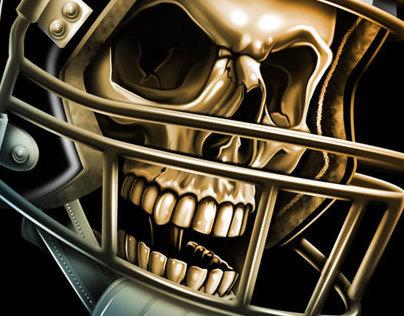 Sports Skulls Stickers/Tattoos