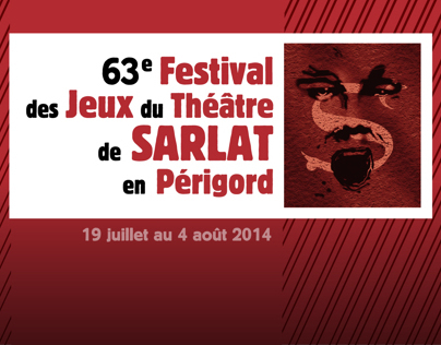 Theatre festival Poster for the medieval city of Sarlat