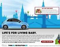 Fiat 500 - Loves London Metro Homepage Takeover