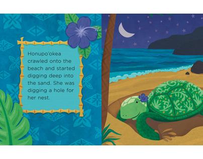 Kauila the Hawaiian Sea Turtle Childrens Book Spread