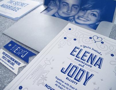 Big Vegas Wedding – Letterpress Invitation