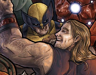*BURGER HEROS* non official Marvel´s Avengers Cover