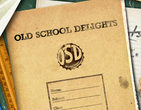 Old School Delights - Menu Design