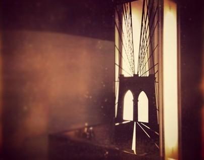 Brooklyn Bridge column cut out