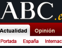 proposal redesign of the newspapers Web ABC.es