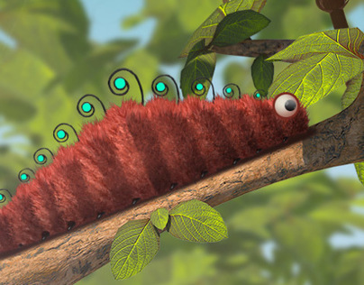 Caterpillar - 3D artwork