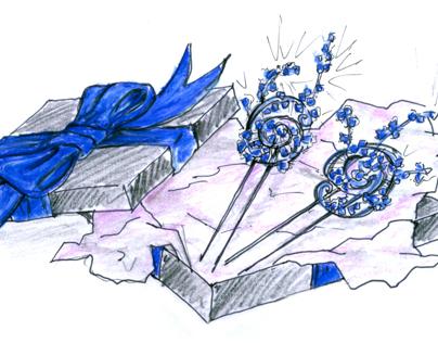 short story/character illustrations