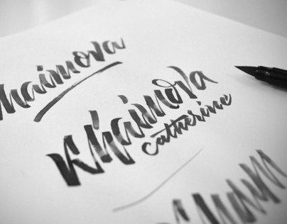 Identity for Khaimova Catherine, lettering, Fashion