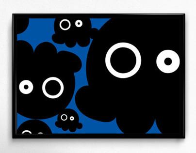 Squid Vector Art Poster
