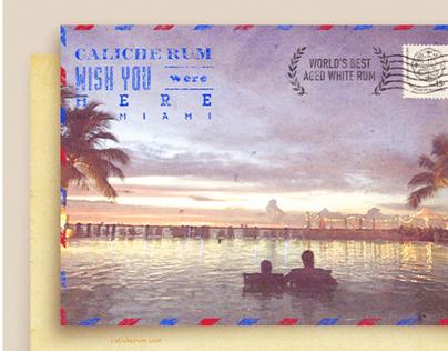 Caliche Rum Postcards