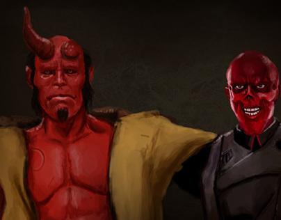 Hell Boy & Red Skull