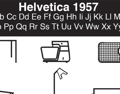 Helvetica + Industrial Design Icons