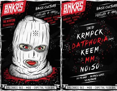 BNKRS Party - Flyer + T-shirt