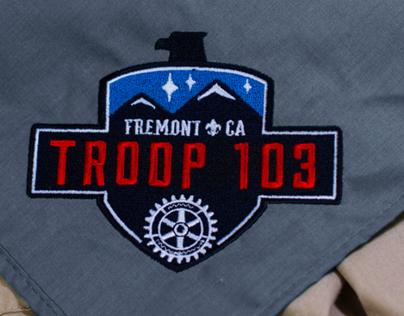 Troop 103 Neckerchief Redesign