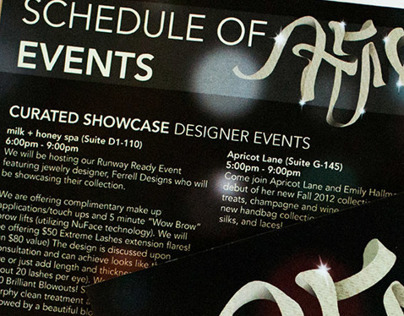 AFW Schedule Pamphlet | Hill Country Galleria