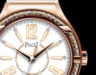 Illustrator work for Piaget watch ad