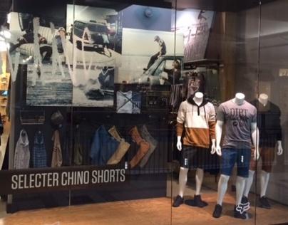 Selecter Chino Window Display: Fox Head Inc