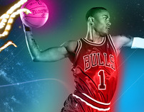 Derrick Rose 2011 Flying Solo Wallpaper Suite