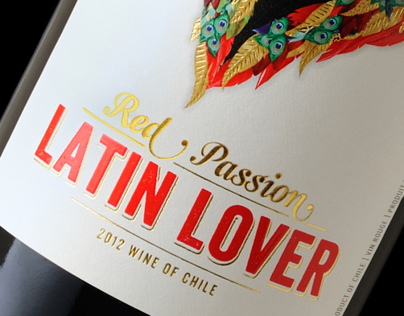 Latin Lover - Wine Label