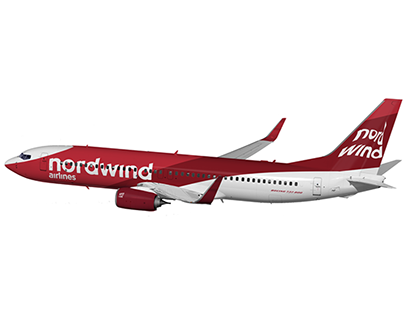 nordwind airlines . rebranding