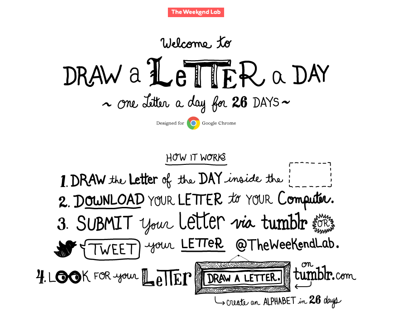 Draw a Letter a Day