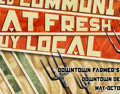 Constructivism Poster, Farmer's Market