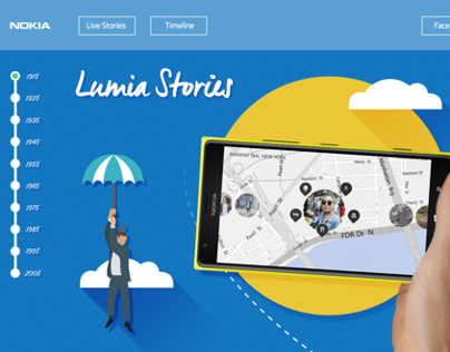 Lumia Stories - Nokia Parallax Website