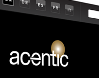 Re-branding online - new sitedesign for Acentic