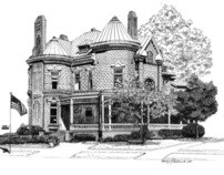 Fort McPherson Pen and Ink Drawings